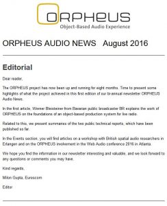 ORPHEUS Audio News
